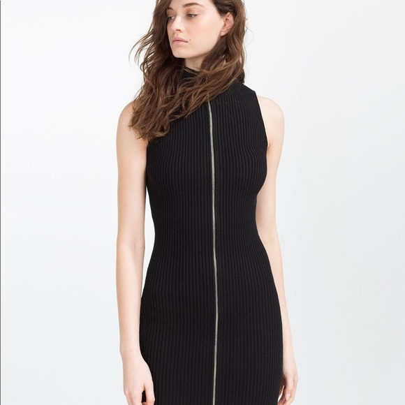 Zara Dresses & Skirts - Zara Collection • Full Zip Black Dress